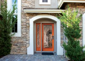 Simpson Door Embarcadero 6468 UltraBlock Tech in fir with 6469 sidelite 300x214