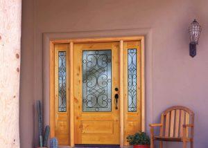 Simpson Door Laredo 6494 in knotty alder 6497 sidelites 300x214