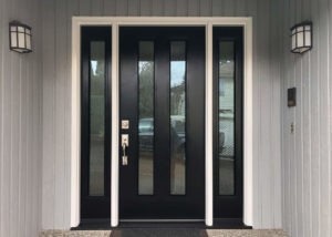 Ricketts Exterior After ProVia Heritage Fiberglass Contemporary Door Sidelites Waterfall Obscure Glass 2 300x214